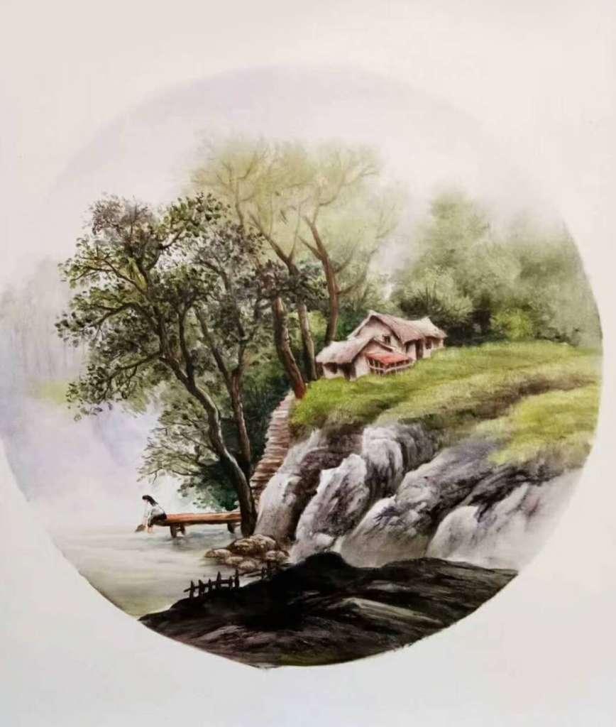 石头画 盆栽 步骤